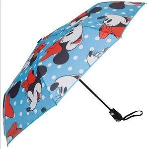 New Cute Blue Minnie Mouse Polka Dot Umbrella